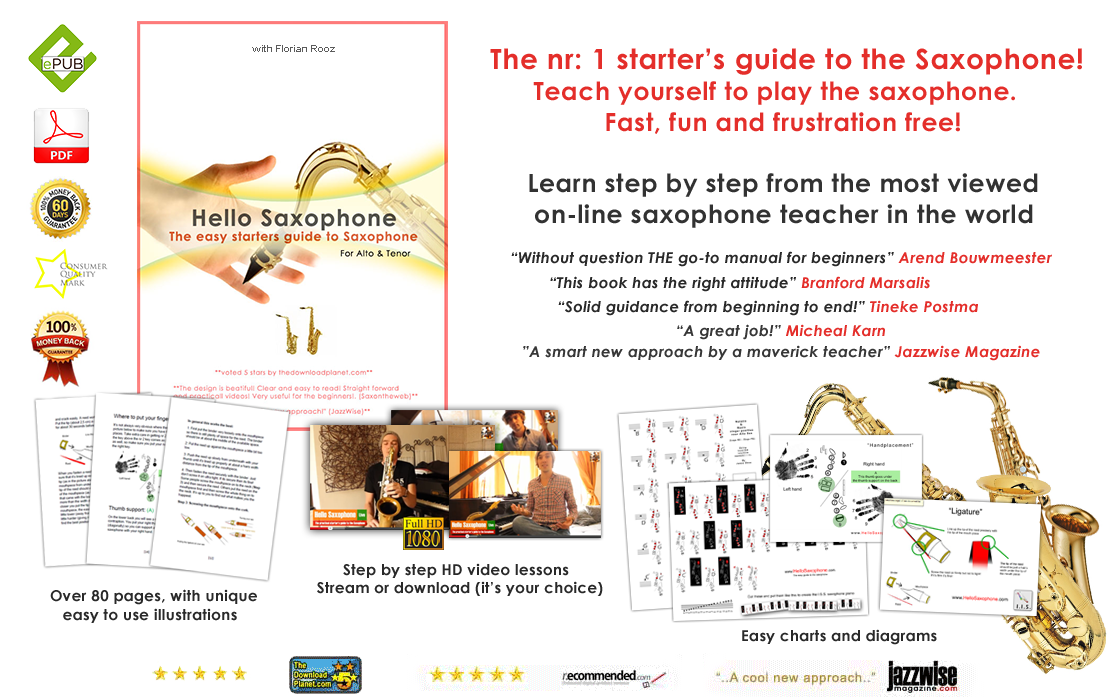 Teach yourself to play the saxophone. fast, fun and frustration free!